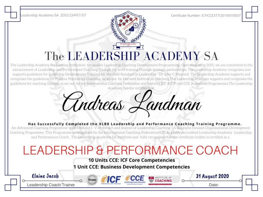 LASA Certificate 20200831